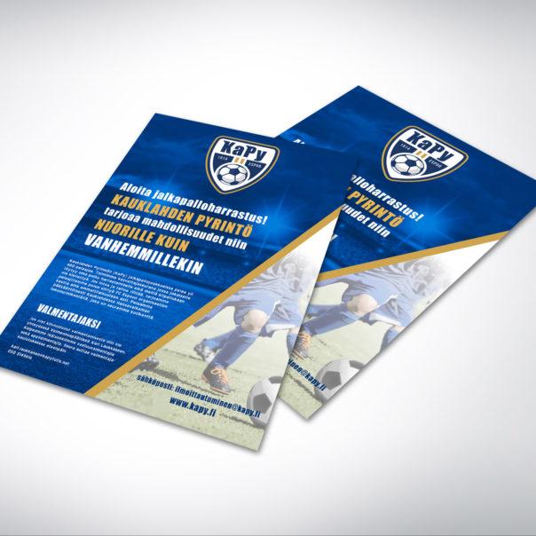 KaPy jalkapalloseuran flyeri